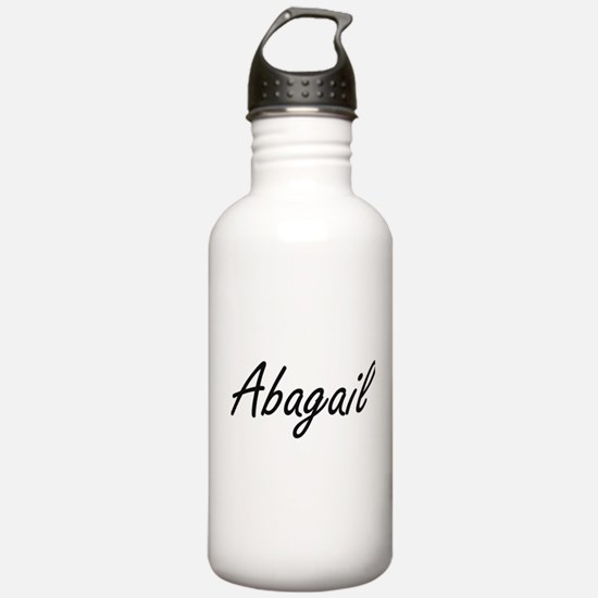 Abagail artistic Name Water Bottle