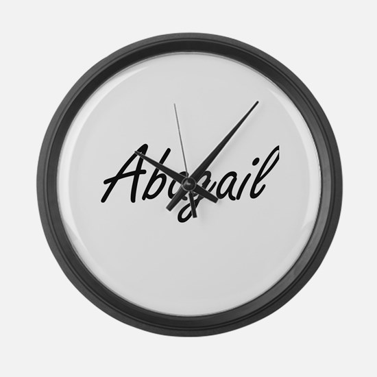 Abagail artistic Name Design Large Wall Clock