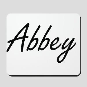 Abbey artistic Name Design Mousepad