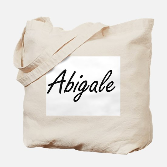 Abigale artistic Name Design Tote Bag