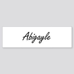Abigayle artistic Name Design Bumper Sticker