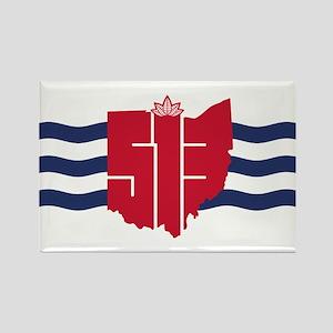 513 Cincinnati Flag Hometown Art Magnets