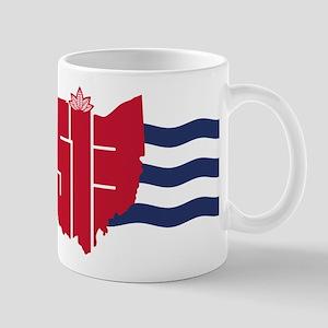 513 Cincinnati Flag Hometown Art Mugs