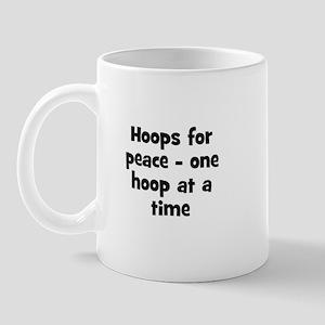Hoops for peace - one hoop at Mug
