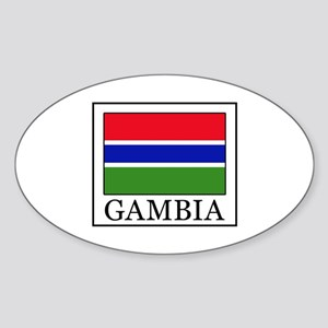Gambia Sticker (Oval)