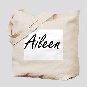 Aileen artistic Name Design Tote Bag