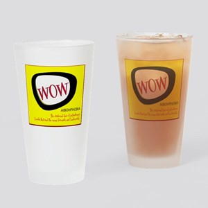 WOW AIBOHPHOBIA PALINDROMES Drinking Glass
