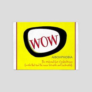 WOW AIBOHPHOBIA PALINDROMES 5'x7'Area Rug