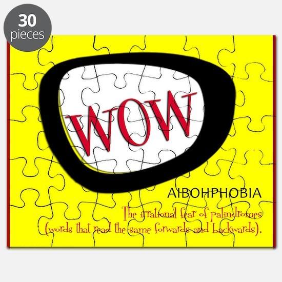 WOW AIBOHPHOBIA PALINDROMES Puzzle