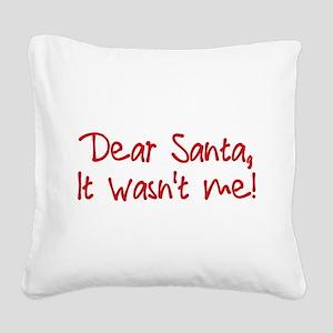 Dear Santa Square Canvas Pillow