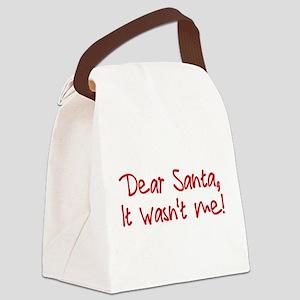 Dear Santa Canvas Lunch Bag