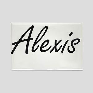 Alexis artistic Name Design Magnets