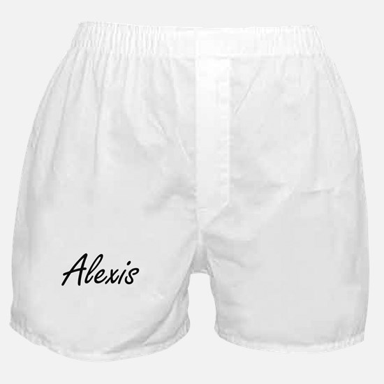 Alexis artistic Name Design Boxer Shorts