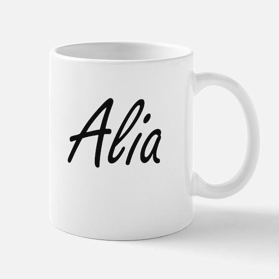 Alia artistic Name Design Mugs