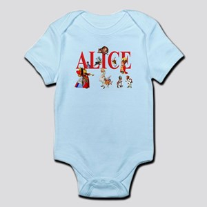 Alice and Friends in Wonderland Infant Bodysuit