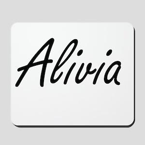 Alivia artistic Name Design Mousepad