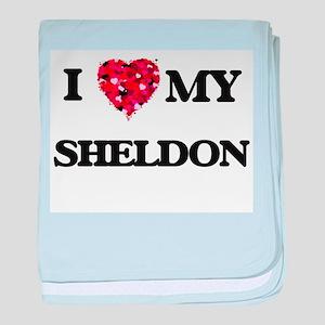I love my Sheldon baby blanket