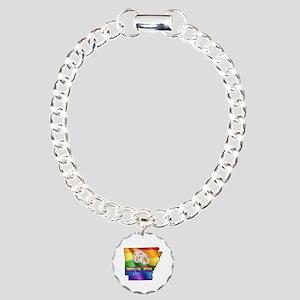 AR GAY MARRIAGE Charm Bracelet, One Charm