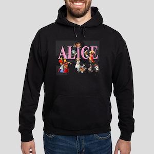 Alice and Friends in Wonderland Hoodie (dark)