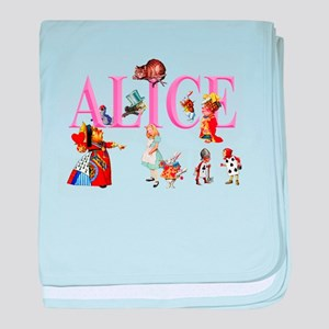 Alice and Friends in Wonderland baby blanket