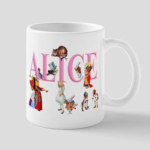 Alice and Friends in Wonderland Mug