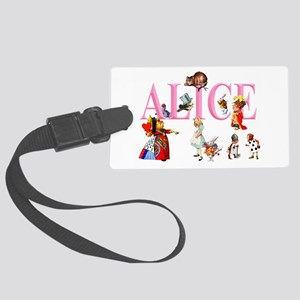 Alice and Friends in Wonderland Large Luggage Tag