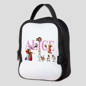 Alice and Friends in Wonderlan Neoprene Lunch Bag
