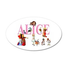Alice and Friends in Wonder Wall Decal