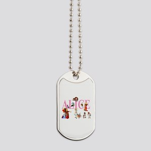 Alice and Friends in Wonderland Dog Tags