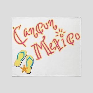 Cancun Mexico - Throw Blanket