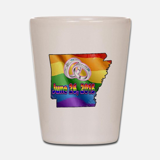 AR GAY MARRIAGE Shot Glass