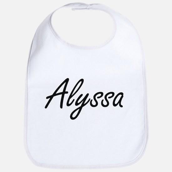 Alyssa artistic Name Design Bib