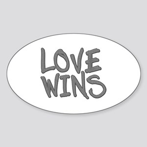 Love Wins! Marriage Equality Sticker (Oval)