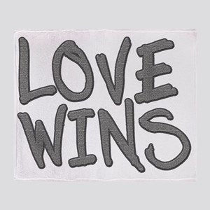 Love Wins! Marriage Equality Throw Blanket