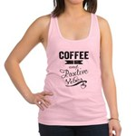 Coffee and Positive Vibes Racerback Tank Top