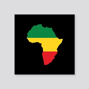 Green, Gold and Red Africa Flag Sticker