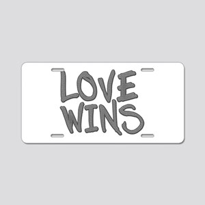Love Wins! Marriage Aluminum License Plate