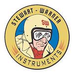 Stewart Warner Retro Round Car Magnet