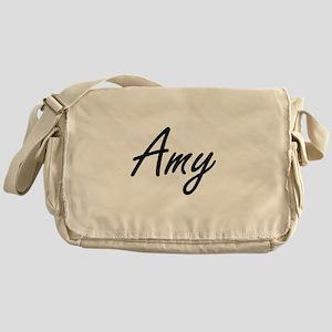 Amy artistic Name Design Messenger Bag
