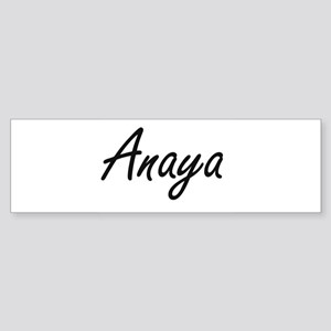 Anaya artistic Name Design Bumper Sticker
