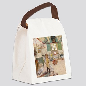 Little girls room Canvas Lunch Bag