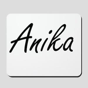Anika artistic Name Design Mousepad