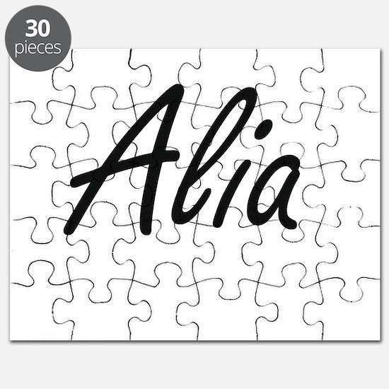 Alia artistic Name Design Puzzle