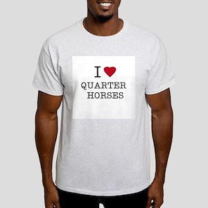 I Heart Quarter Horses Ash Grey T-Shirt