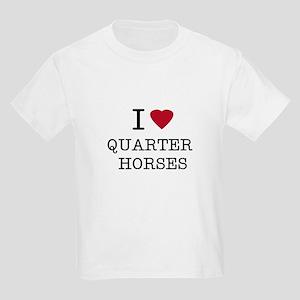 I Heart Quarter Horses Kids T-Shirt