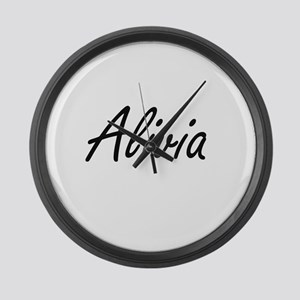 Alivia artistic Name Design Large Wall Clock