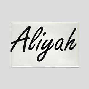 Aliyah artistic Name Design Magnets