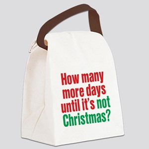 Not Christmas Canvas Lunch Bag