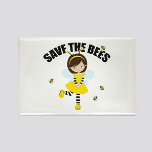 Save the Bees Rectangle Magnet