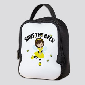 Save the Bees Neoprene Lunch Bag